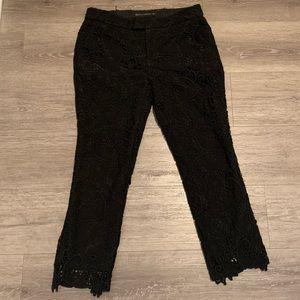 Zara black crochet lace pants size medium